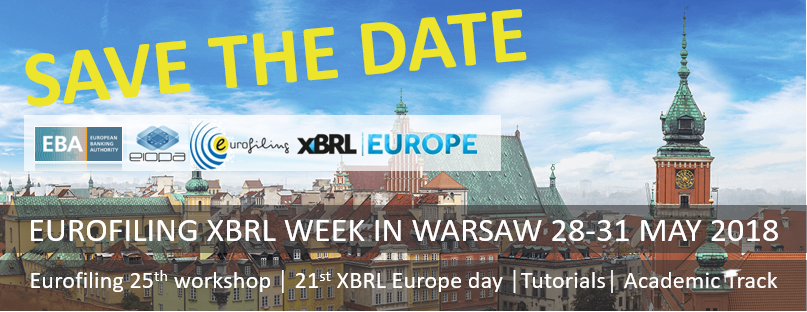 EUROFILING XBRL WEEK IN WARSAW – SAVE THE DATE